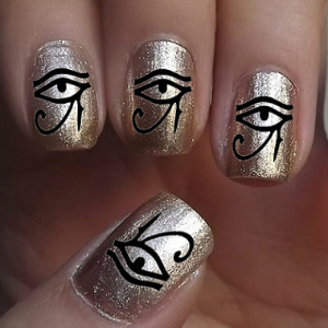 Cleopatra Nail Art Stickers Halloween