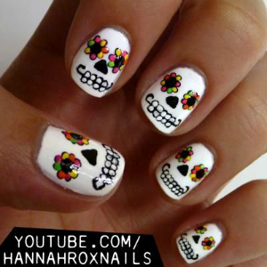 Day of the Dead Nail Art Tutorial