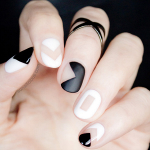 French Maid Nails Art Tutorial