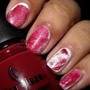 Halloween Nails Bloody Fingerprint