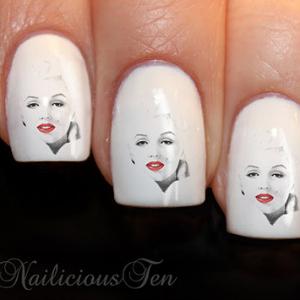 Marilyn Monroe Nail Art Stickers