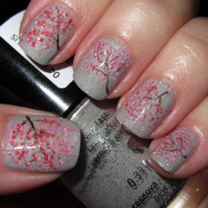 Sakura Halloween Nail Art