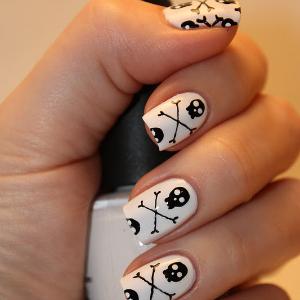 Skeleton Nail Art Tutorial Halloween