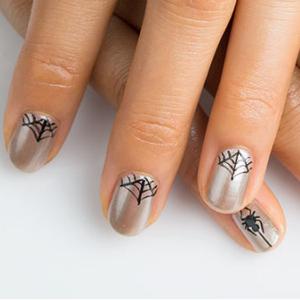 Spiderweb Halloween Nail Art Tutorial