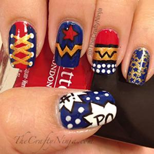 Wonder Woman Nail Art Tutorial