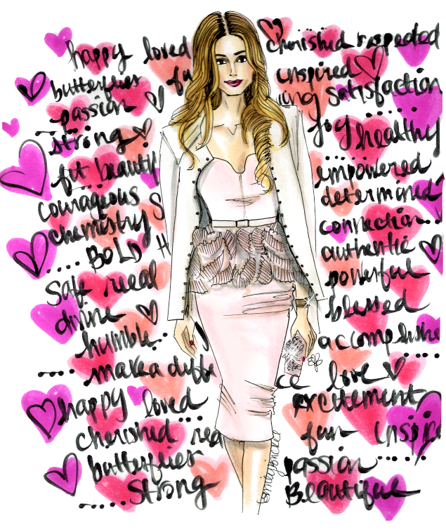 fashion illustrator Emily Brickel