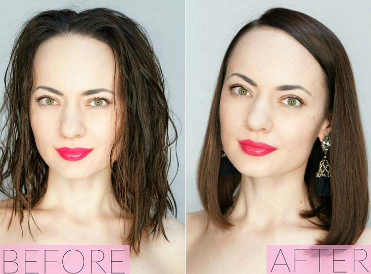 How to Blow Dry Your Hair - Before and After