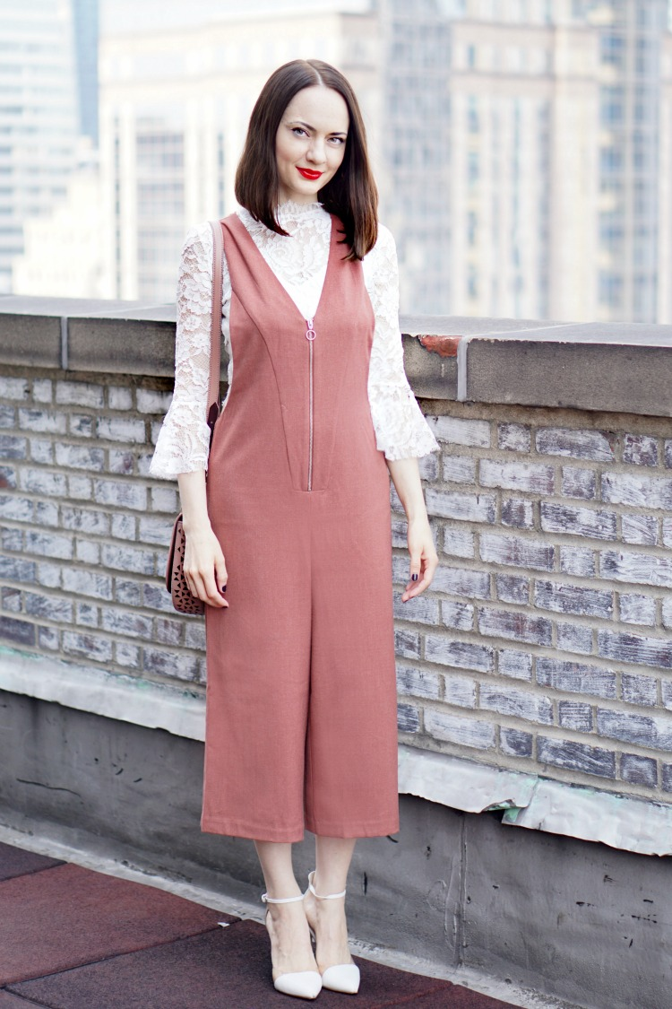 Contemporary Textured Culottes Jumpsuit 2