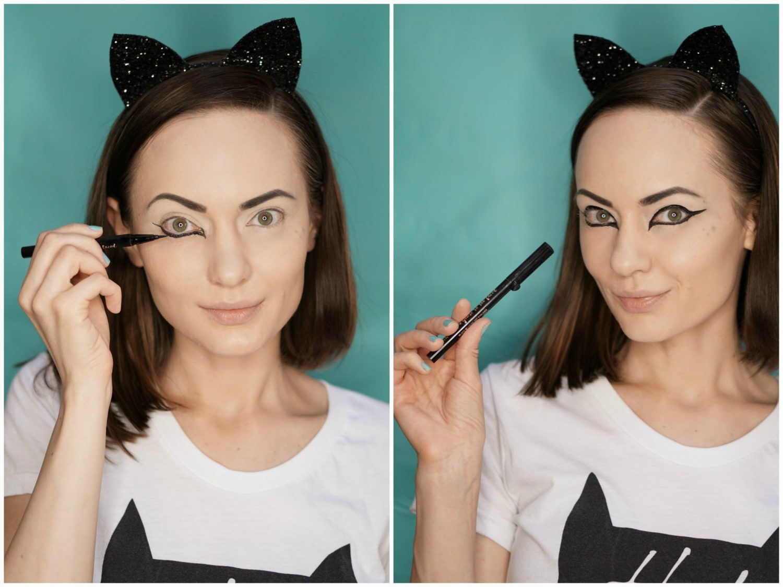 halloween easy cat makeup tutorial. Black Bedroom Furniture Sets. Home Design Ideas
