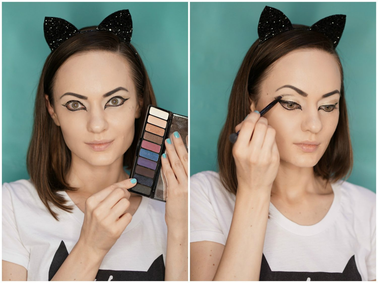 cat makeup - easy-to-repeat halloween makeup tutorial
