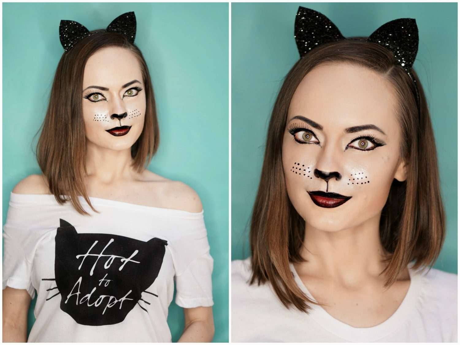 Halloween Easy Cat Makeup Tutorial