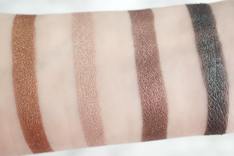 Tarteist Pro Amazonian Clay Palette - glitter shades swatches