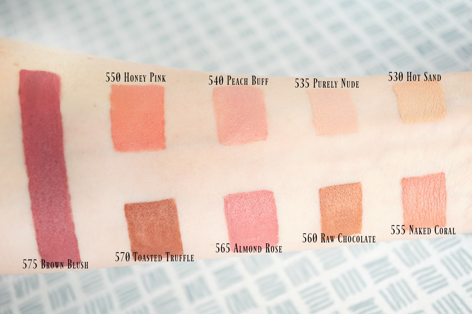 Maybelline Inti-Matte Nude Lipsticks - Swatches of All Colors