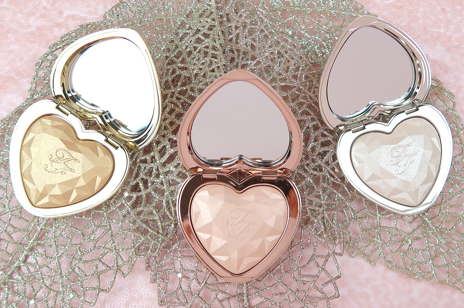 Too Faced Love Light Prismatic Highlighters Review