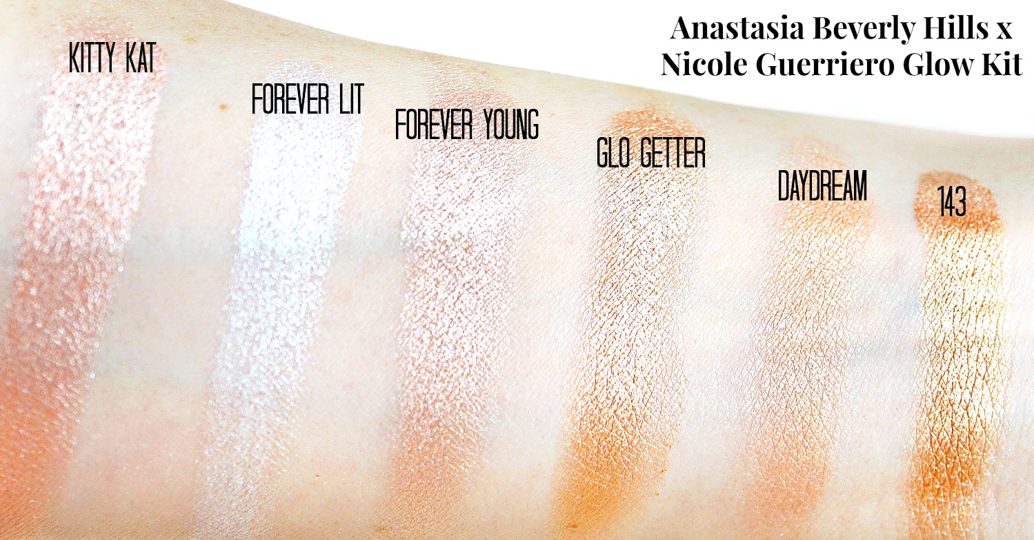 swatches - Anastasia Beverly Hills Nicole Guerriero Glow Kit