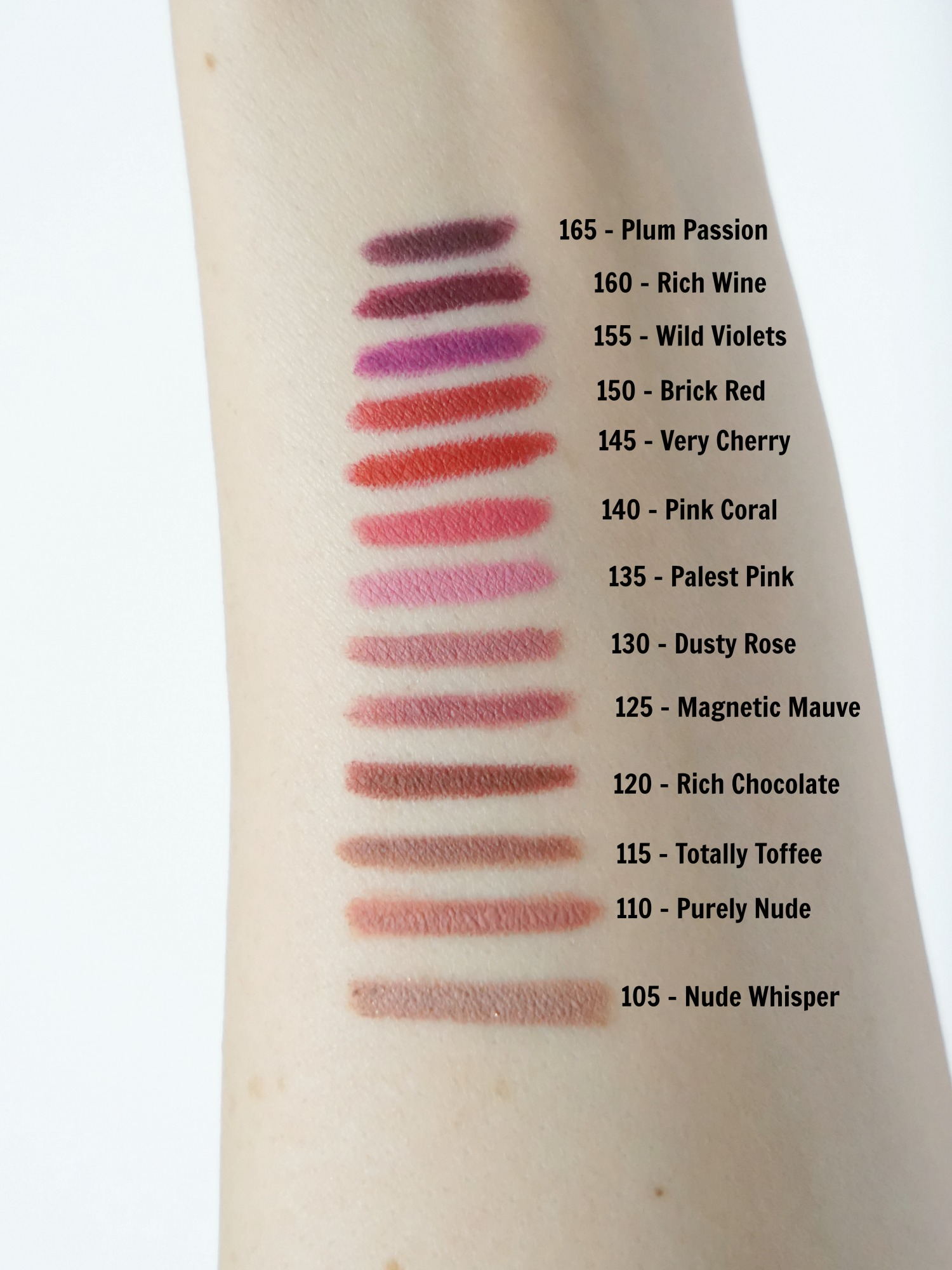 Swatches: Maybelline Color Sensational Shaping Lip Liners