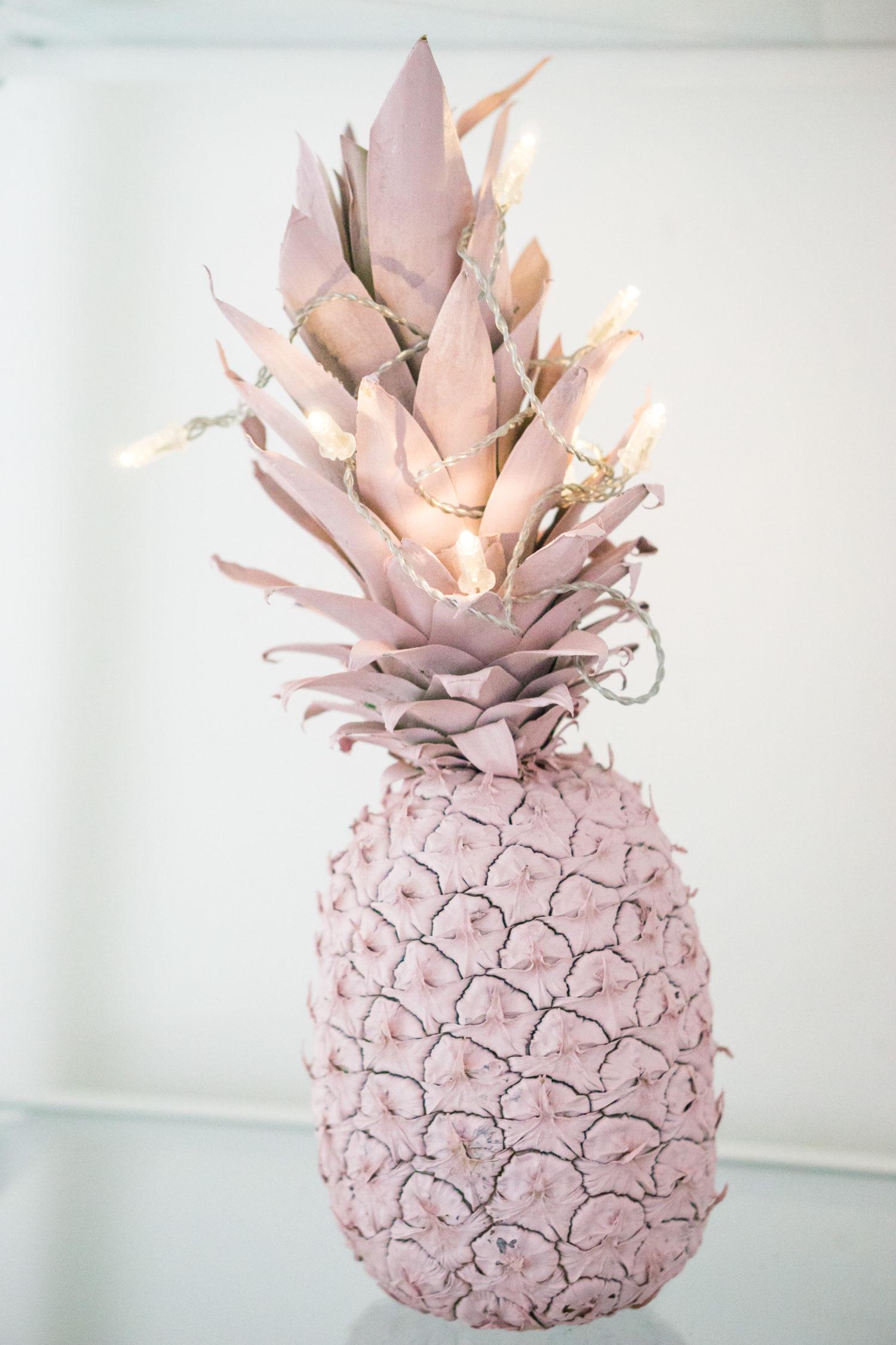DIY painted pineapple decor idea