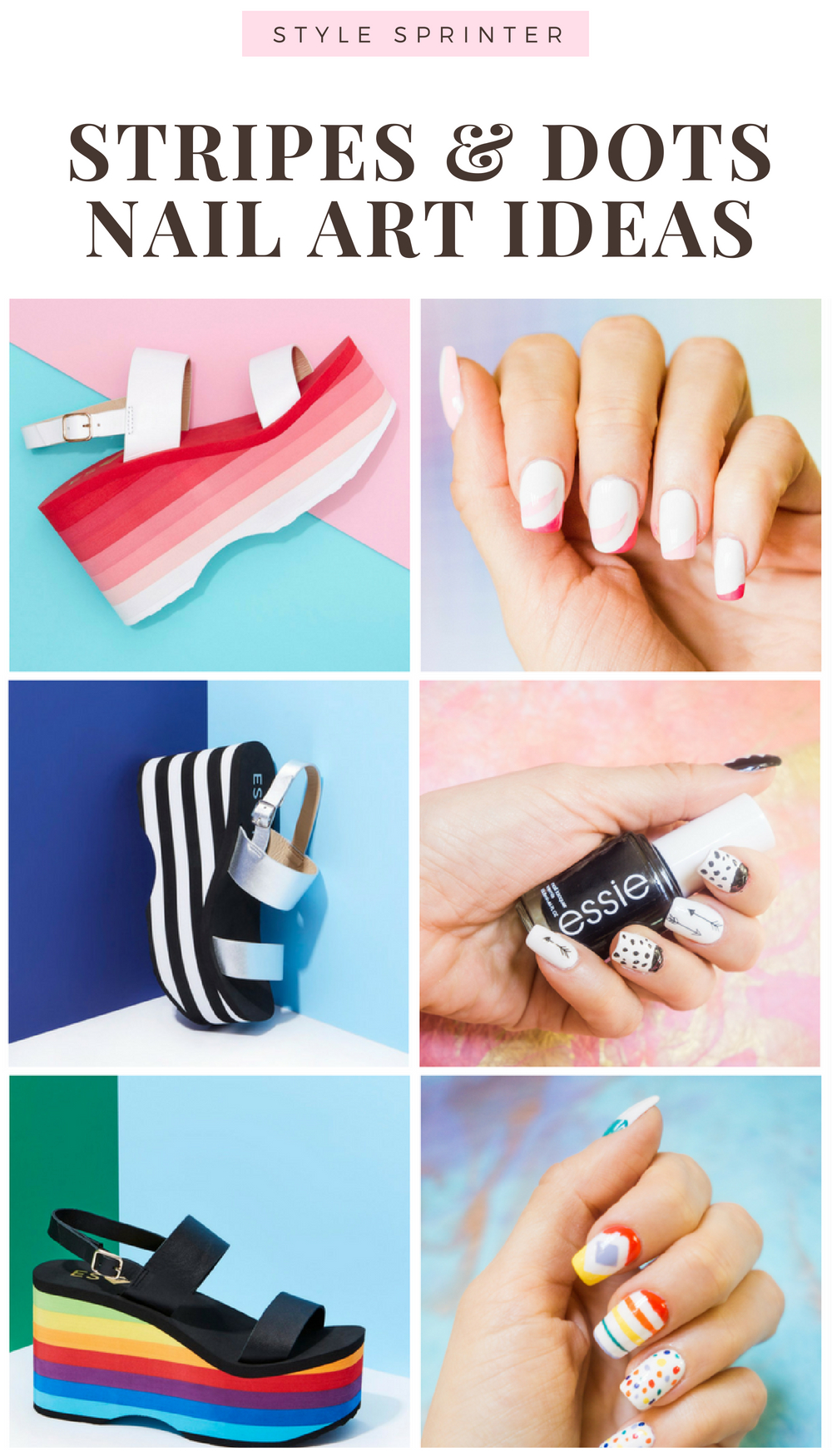STRIPES & DOTS NAIL ART IDEAS