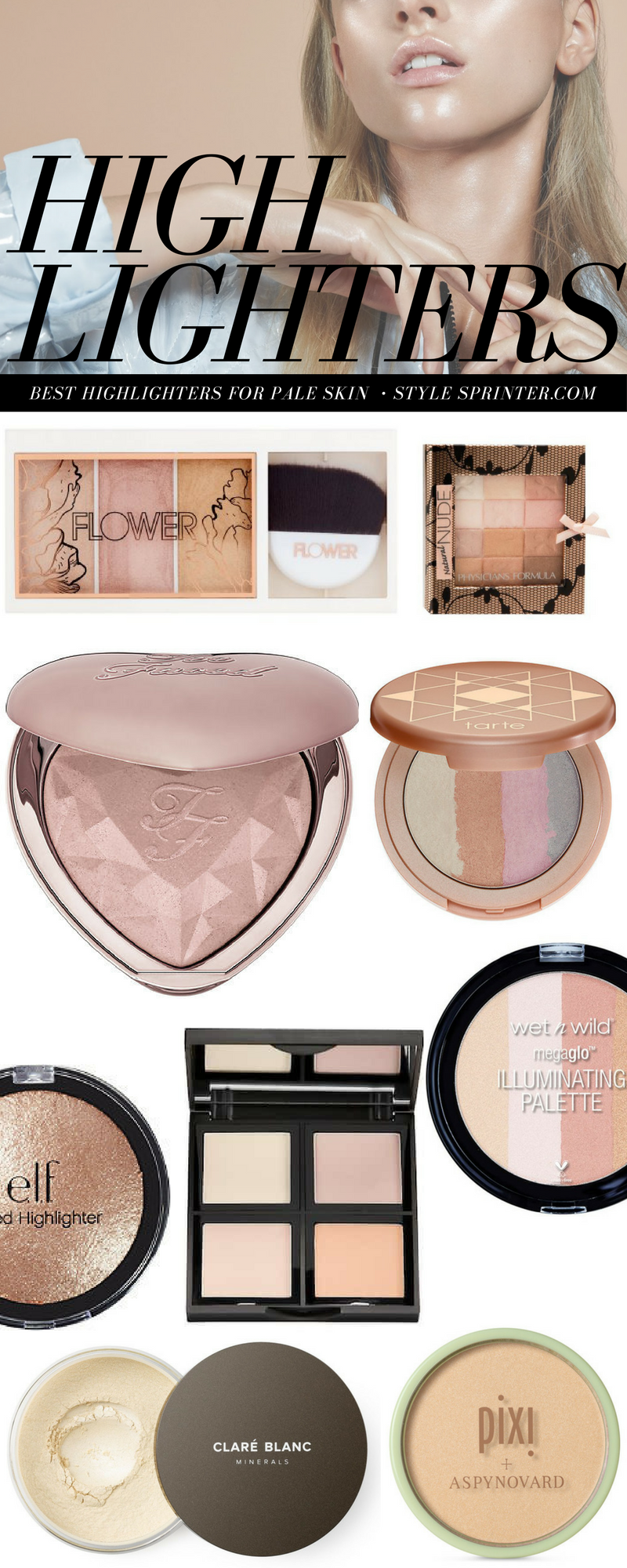 Top 10 Best Highlighters for Pale Skin