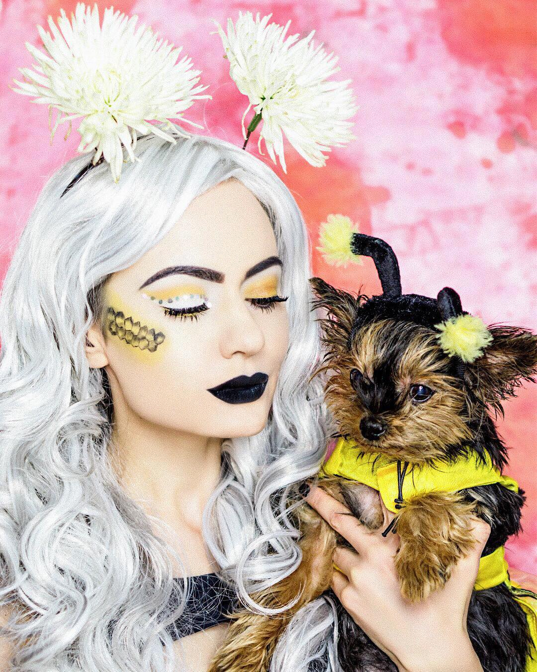 Bumblee Bee Halloween Makeup Idea